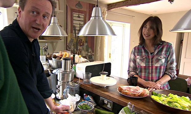David and Samantha Cameron in their Cotswolds home during an interview with the BBC (Via BBC)