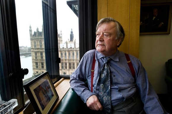Ken Clarke looks across the river Thames from his Westminster office